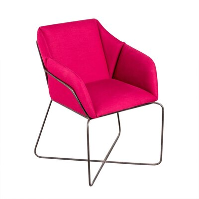 Ackermann Burton Lounge Chair Upholstery: Fuchsia