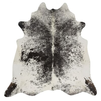 Drummans Hand Woven Cowhide Black/White Area Rug