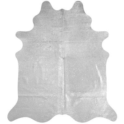 Handmade Cowhide Silver Area Rug