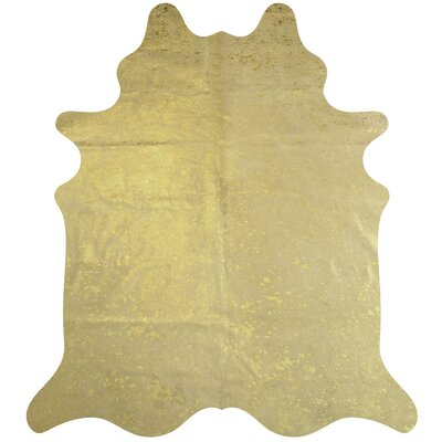 Handmade Gold Area Rug