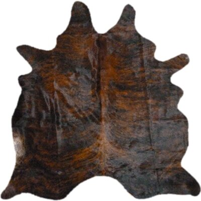 Morenci Natural Cowhide Dark Brindle Area Rug