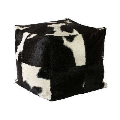 Denver Leather Pouf