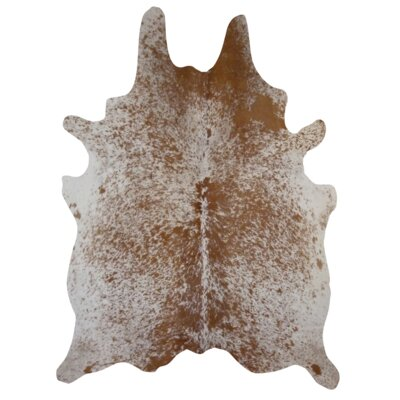 Natural Cowhide Salt/Pepper Hand-Woven Brown Area Rug