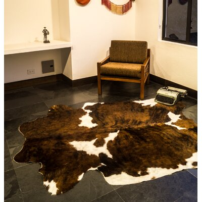 Natural Cowhide Brown & White Area Rug