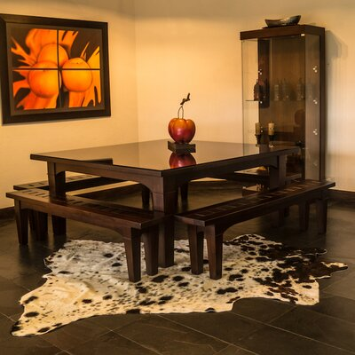 Cedarton Natural Cowhide Freckled Area Rug