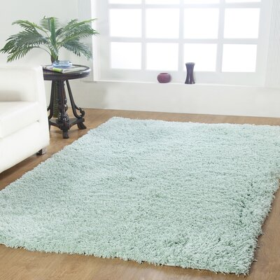 Affinity Hand-Woven Aqua Area Rug Rug Size: Rectangle 5 x 8