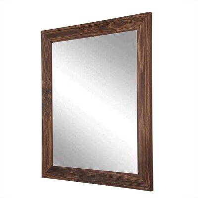 "Rustic Espresso Wall Mirror Size: 54.5"" H X 31.5"" W"