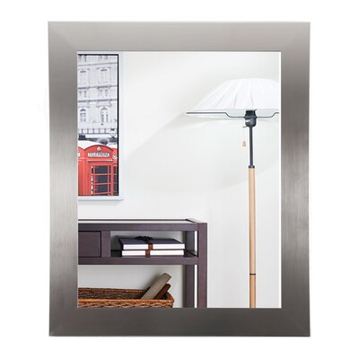 "Silver Designer Entry Way Wall Mirror Size: 36"" H X 32"" W X 0.75"" D"