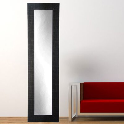 "Scratched Black Tall Accent Floor Mirror Size: 71"" H X 16"" W X 0.75"" D"