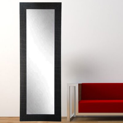 "Scratched Black Tall Accent Floor Mirror Size: 71"" H X 21.5"" W X 0.75"" D"