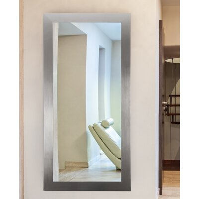 "Shade Dressing Wall Mirror Size: 66"" H X 32"" W X 0.75"" D, Finish: Silver"
