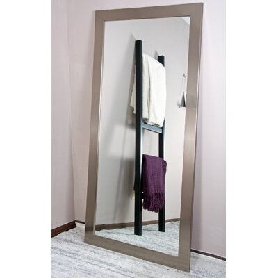 "Shade Dressing Wall Mirror Size: 66"" H X 32"" W X 0.75"" D, Finish: Stainless Silver"