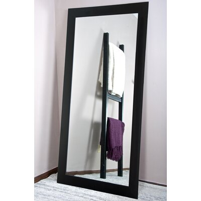 "Shade Dressing Wall Mirror Size: 66"" H X 32"" W X 0.75"" D, Finish: Matte Black"