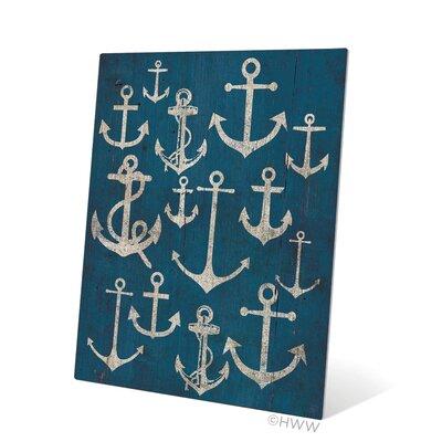 """Vintage Anchor Assortment Graphic Art Plaque Size: 20"""" H x 16"""" W x 1"""" D BH044MTL16X20"""