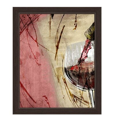 Artistic Pouring Red Wine Right Painting Print on Canvas Size: 33