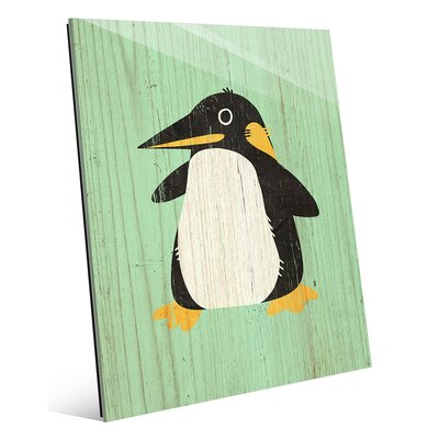 'Little Penguin Spring' Painting Print AML0000120GLS08X10XXX