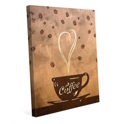 Cup of Coffee Painting Print on Wrapped Canvas COF0000016CAN20X30TXX