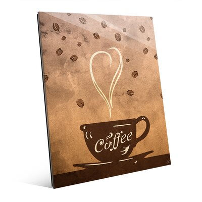 Glass Cup of Coffee Painting Print on Plaque COF0000016GLS08X10XXX