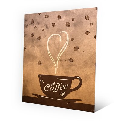 "Metal Cup of Coffee Painting Print on Plaque Size: 10"" H x 8"" W x 0.04"" D COF0000016MTL8X10XXX"