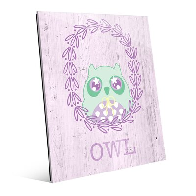 'Owl Wreath - Pastel' Graphic Art on Plaque RKL0000052GLS16X20XXX