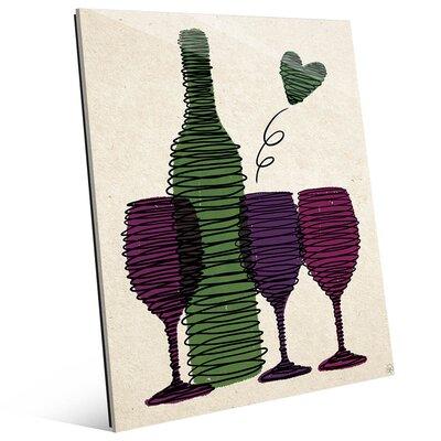 Spiralling Wine - Vineyard Graphic Art WIN0000520GLS08X10XXX