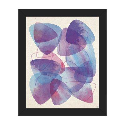 "Shedding Scales Framed Graphic Art on Canvas Size: 26.5"" H x 22.5"" W x 1"" D, Frame Color: Black ABS0011548FRA20X24SBK"