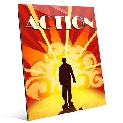 'Action Film' Graphic Art on Plaque MOV0000028GLS08X10XXX