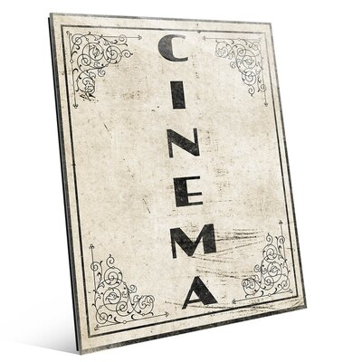 'Fancy Cinema' Textual Art on Plaque MOV0000009GLS20X24XXX