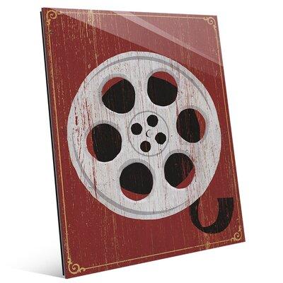 'Film Reel' Graphic Art on Plaque MOV0000003GLS08X10XXX