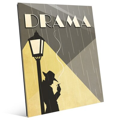 'Drama Film' Graphic Art on Plaque MOV0000029GLS11X14XXX