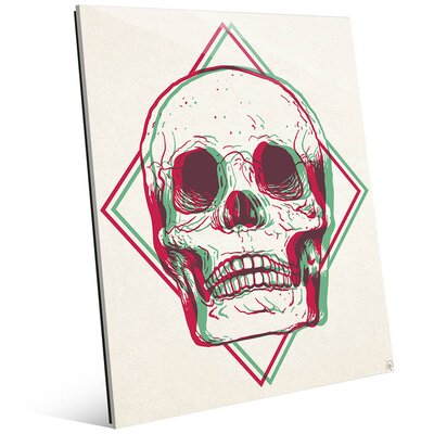 "'Vibrant Skull Brown' Graphic Art on Plaque Size: 14"" H x 11"" W x 1"" D HIP0000034ACR11X14XXX"