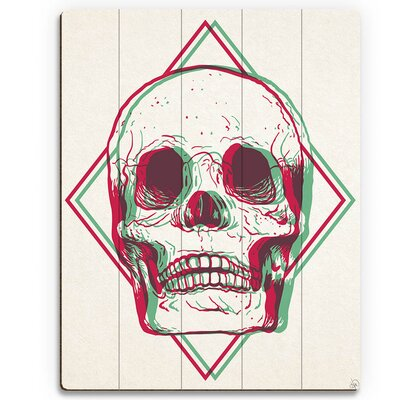 'Vibrant Skull Brown' Graphic Art on Plaque HIP0000034PLK09X12XXX