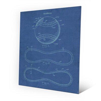 Baseball Figure Graphic Art on Plaque INK0000023MTL8X10XXX