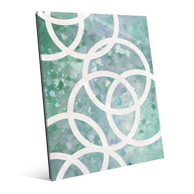 White Circles on Green Graphic Art CBS0002264GLS11X14XXX