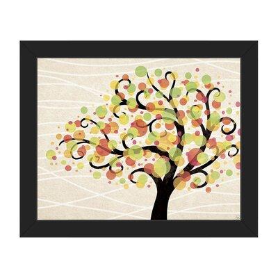 'Bubble Tree Beta' Framed Graphic Art TRE0000043FRA08x10SES