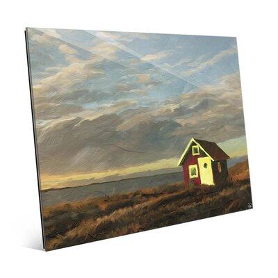 'Norway Shack' Painting Print on Glass LND0000323GLS08X10XXX