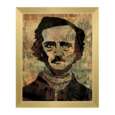 'Rustic Edgar Allan Poe' Framed Graphic Art Print on Canvas Size: 11