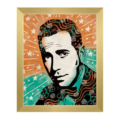 'Wild Humphrey Bogart' Framed Graphic Art Print on Canvas Size: 11