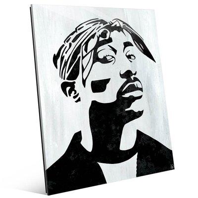 'Tupac White and Black Self Portrait' Graphic Art Print Size: 14