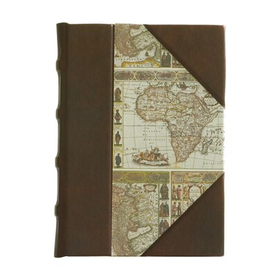 Italian Map Paper and Leather Journal