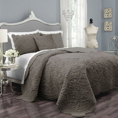 Charlotte Polyester 3 Piece Coverlet Set Size: Queen
