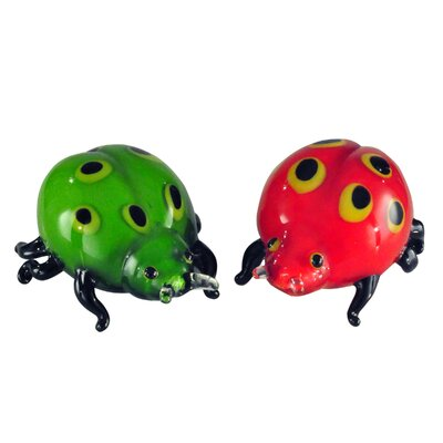Lady Bug Art Glass Sculpture AS13073