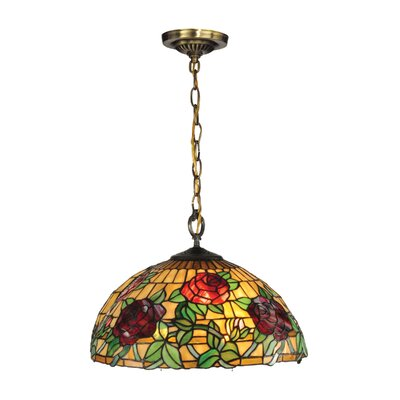 Rosewood Tiffany 1-Light Mini Pendant