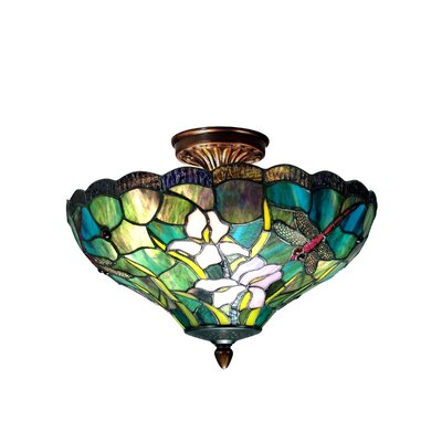 Barrington Savannah 2-Light Semi Flush Mount