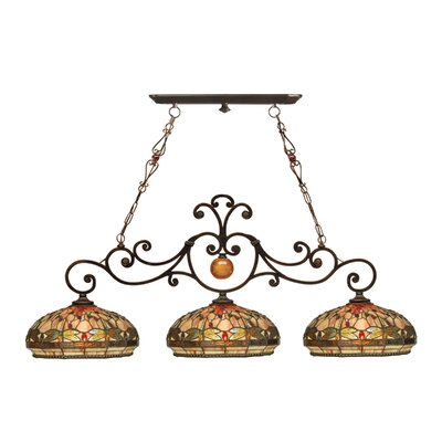 Dragonfly 3-Light Kitchen Island Pendant