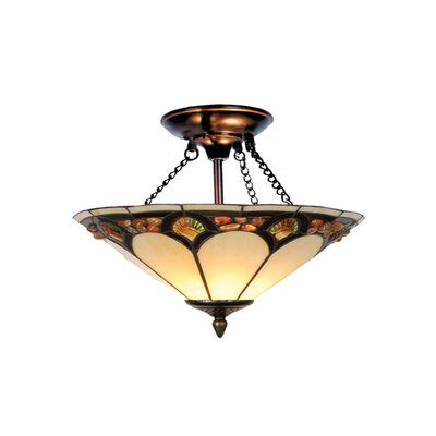 Pebblestone 2-Light Semi Flush Mount