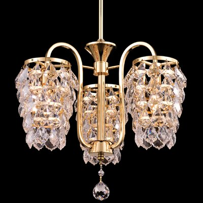 Abbey 3-Light Crystal Chandelier