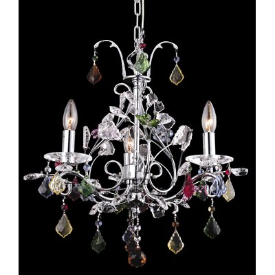 Wembley 3-Light Crystal Chandelier