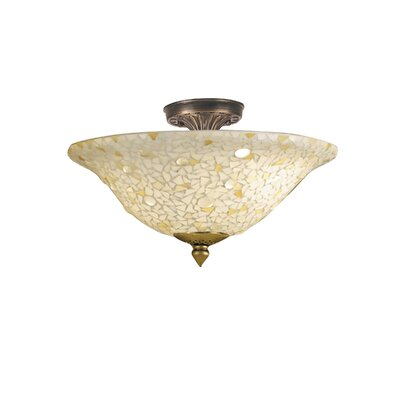 Mosaic 3-Light Semi Flush Mount
