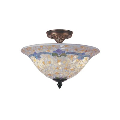 Johana Mosaic 3-Light Semi Flush Mount